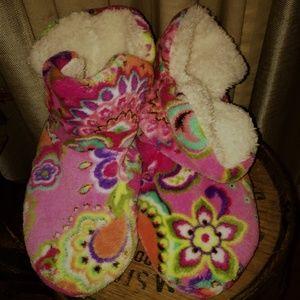 Vera Bradley Micro Fleece Slipper Booties